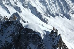 View from the Aiguille du Midi Royalty Free Stock Photography