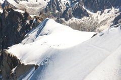 The view from Aiguille du Midi Royalty Free Stock Image