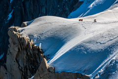 The view from Aiguille du Midi during acclimatization and climb Stock Photo