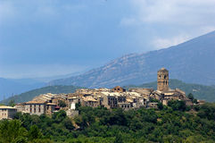 View of Ainsa, Pyrennes, Huesca Stock Image