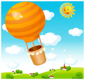 The view of Air balloon Stock Photo