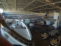 View of Air force One plane on display at the Ronald Reagan library in Simi valley, southern California Stock Photography