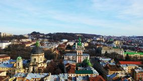 View from the air on Lviv Royalty Free Stock Image