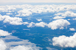 View from the air over Baltic sea Royalty Free Stock Photos