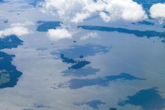 View from the air over Baltic sea Royalty Free Stock Images