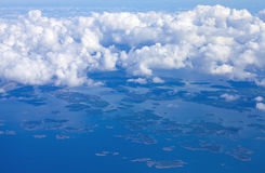 View from the air over Baltic sea Royalty Free Stock Photo