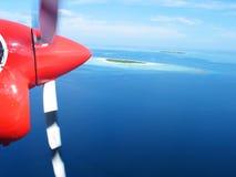 View through air taxi illuminator Stock Images
