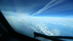 View from Aircraft Cabin Airway