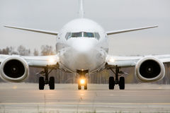 View of an aircraft preparing to take off Royalty Free Stock Photography