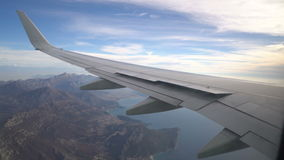 View from the aircraft to the Adriatic coast stock video footage