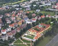 View from aircraft to the area of Prague Stock Images