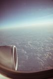 View through the aircraft window Royalty Free Stock Photography