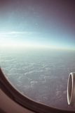 View through the aircraft window Royalty Free Stock Photo