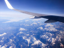View from the airplaine Royalty Free Stock Photo