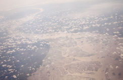 A view from airplane Royalty Free Stock Image