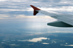 View from an airplane Stock Images