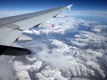 View From the Airplane Stock Photography