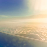 View from an airplane Stock Image