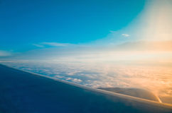 View from an airplane Royalty Free Stock Photo
