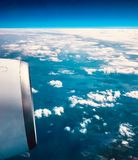 A View From An Airplane stock photography