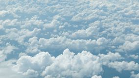 View from the airplane. Clouds at a height of several kilometers stock video