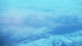 View from airplane of clouds stock video footage