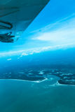 View from the airplane coast of Africa Stock Photo
