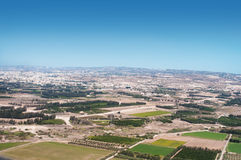 View from an airplane of Cyprus Stock Photos