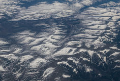 View from airplane on Earth surface. Stock Photography