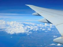 View from the airplane. Airplane view of the landscape, Philippines Royalty Free Stock Photos