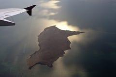 View through airplane porthole Royalty Free Stock Photos