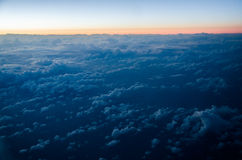 View from airplane Royalty Free Stock Photography