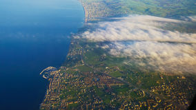 View from the airplane to the expanses of the city, istanbul Royalty Free Stock Photography