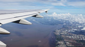 View from the airplane stock video footage
