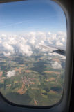 View from airplane window Royalty Free Stock Image