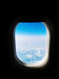 View from an airplane window Stock Images
