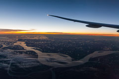 View from the airplane window Royalty Free Stock Photography