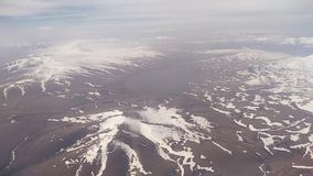 View from the airplane window on the Caucasus Mountains.  stock video