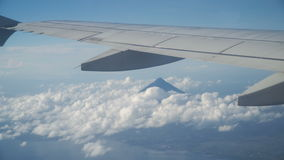 View from an airplane window on the mountains. stock footage