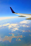 View from the airplane window Stock Photography