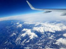 VIEW FROM THE AIRPLANE Stock Photo