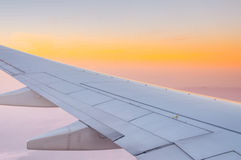 View from airplane window to see sky on day time. Royalty Free Stock Photo