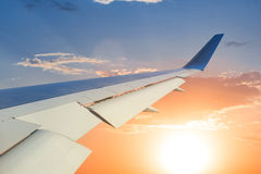 View from a airplane window Royalty Free Stock Images