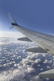 View from airplane window Stock Photography