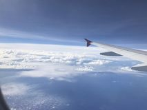 View from airplanes. Traveling to cape town Royalty Free Stock Photo