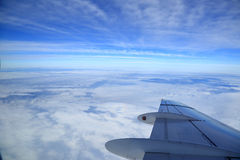 View of airplanes wing Royalty Free Stock Image