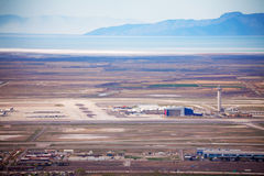View of airport during day time in Salt Lake City. USA Royalty Free Stock Photos