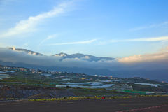 View from airport La Palma Royalty Free Stock Photography