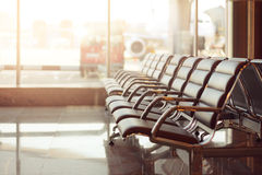 A view from airport terminal Royalty Free Stock Photos