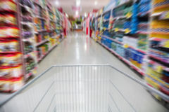 View of the aisle from a trolley Royalty Free Stock Image